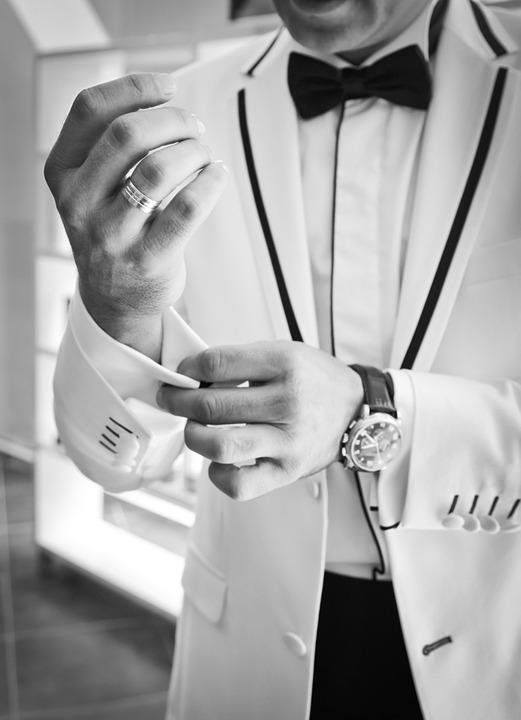 Son In Law, Cufflinks, Black And White, Bow Tie, Tuxedo
