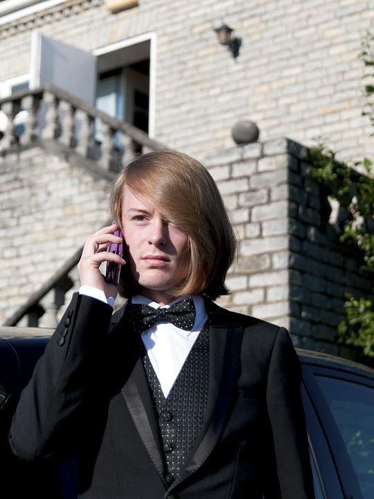 Man, Tuxedo, Phone, Suit, Guy, On The Phone