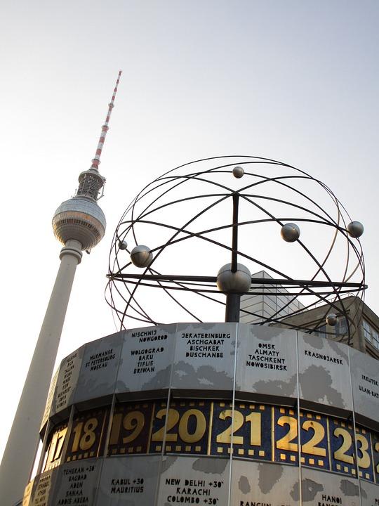 Tv Tower, World Clock, Alex, Alexanderplatz, Berlin