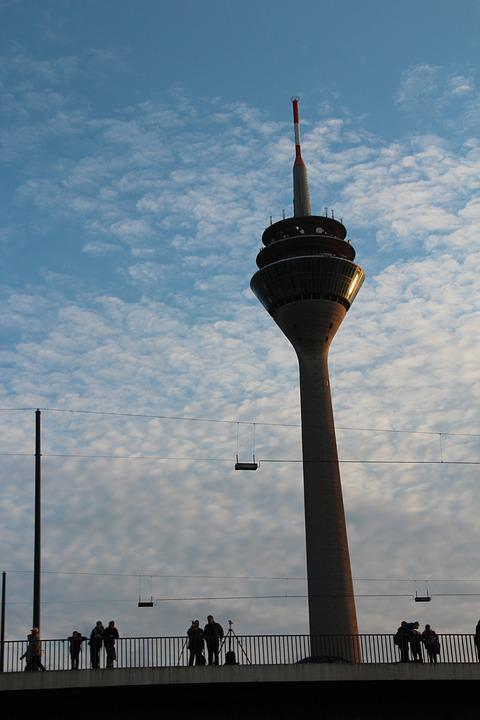 Düsseldorf, Radio Tower, Rheinbrücke, Tv Tower
