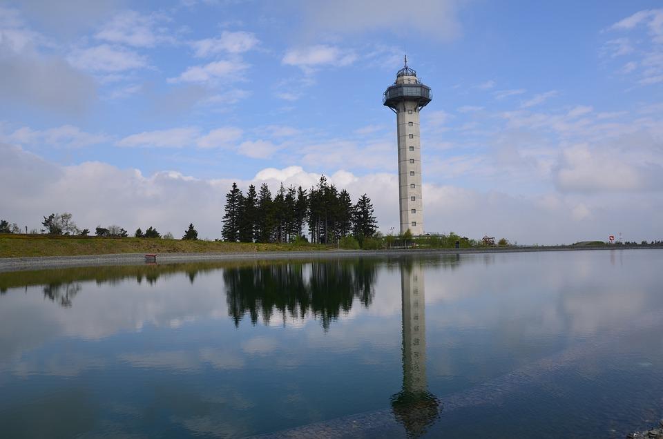 Lake, Nature, Mirroring, Tv Tower, Willingen, Etelsberg