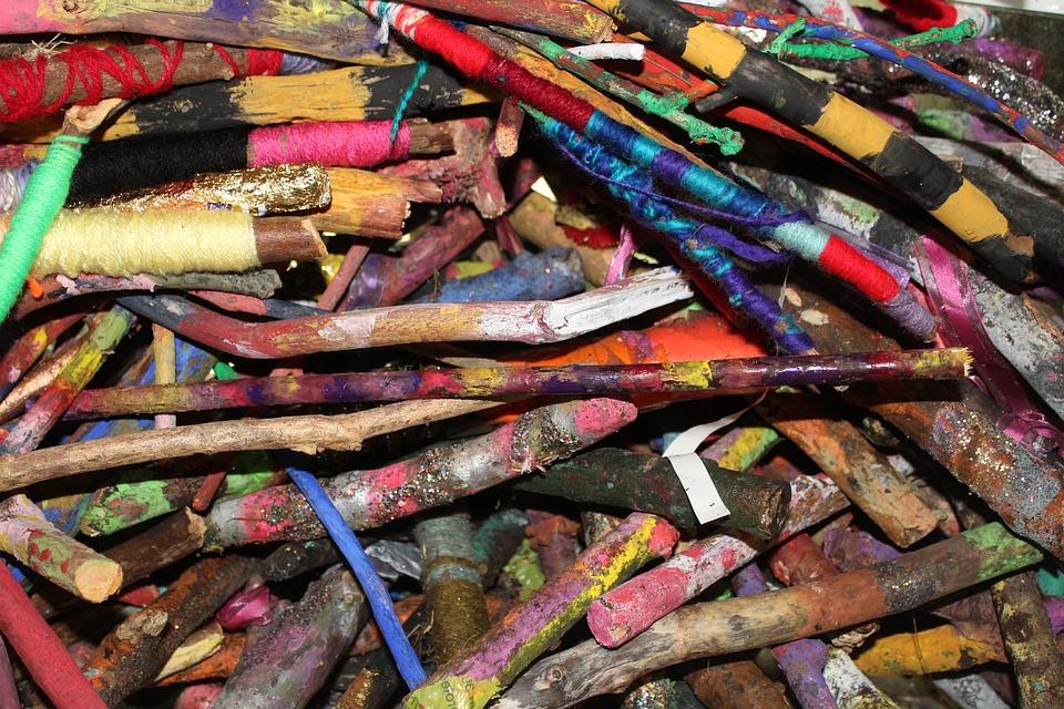 Background, Texture, Design, Colour, Twigs, Art, Wool