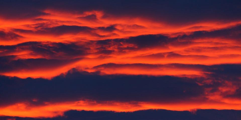 Sunset, Clouds, Sky, Dusk, Twilight, Afterglow