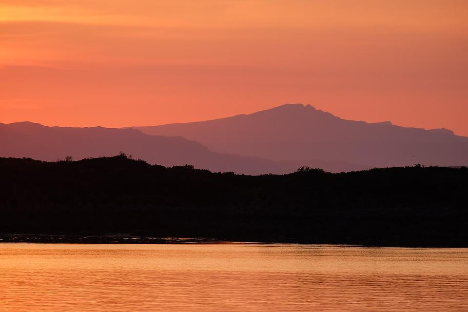 Skye, Sunset, Scotland, Dusk, Twilight, Mountains