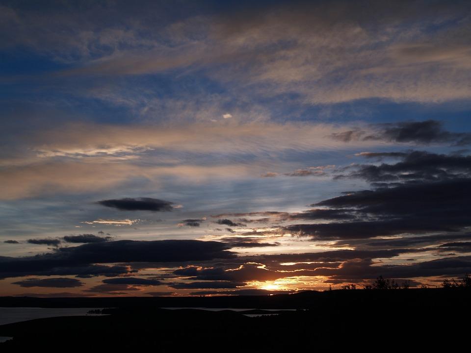Landscape, Marsh, Twilight