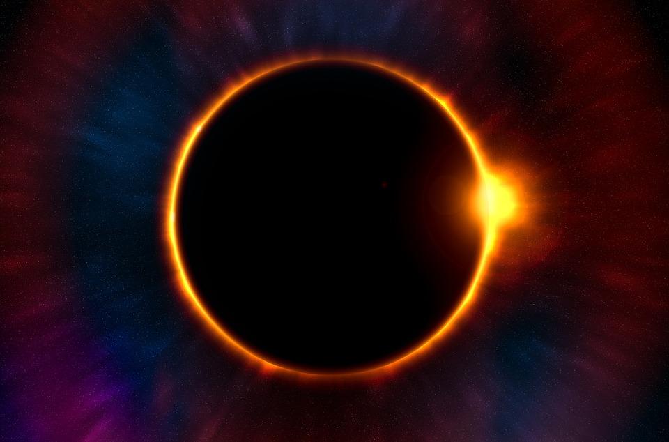 Eclipse, Twilight, Moon, Sun, Planet, Solar System