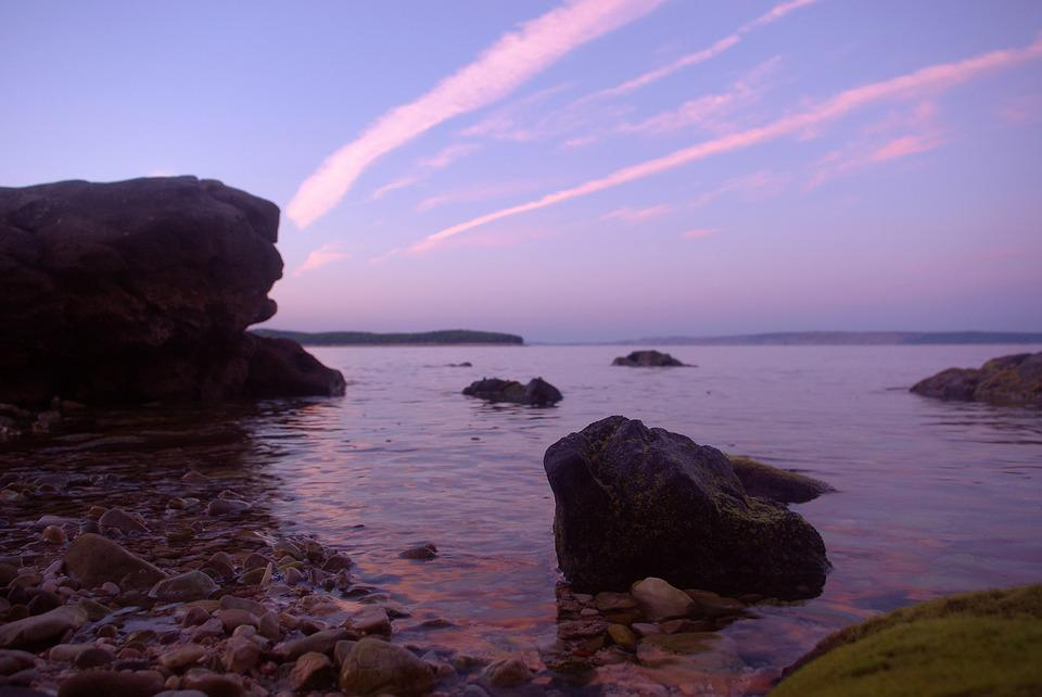 Sea, Water, Recovery, Evening, Twilight, Wave, Rock