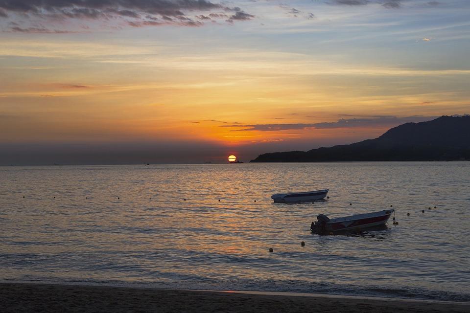 Sunset, Sol, The Sun On The Water, Rising Sun, Twilight