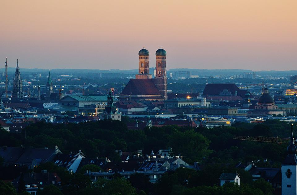 Munich, Frauenkirche, Bavaria, Twilight, State Capital