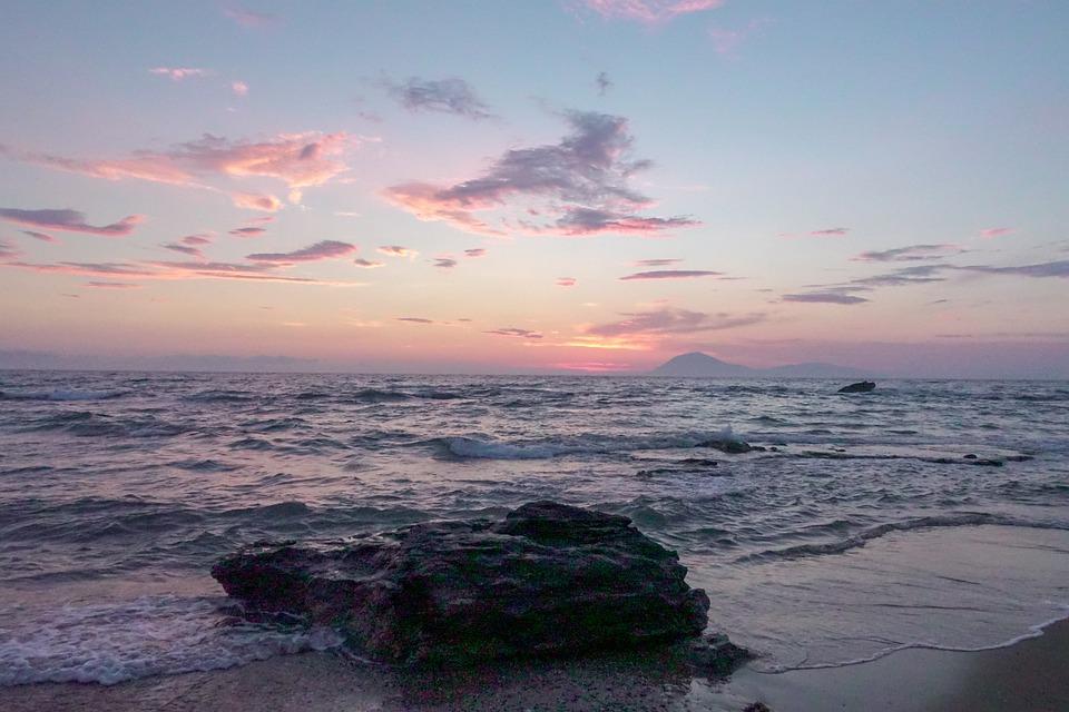 Sea, Sun, Sunset, Ocean, Water, Sky, Twilight, Dusk
