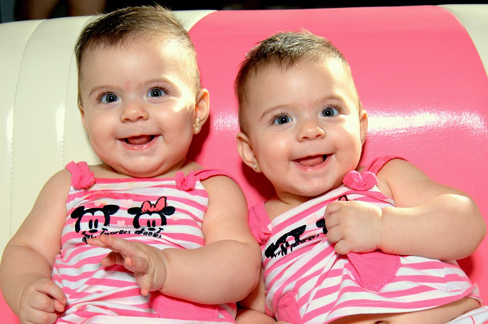 Baby, Twins, Smile