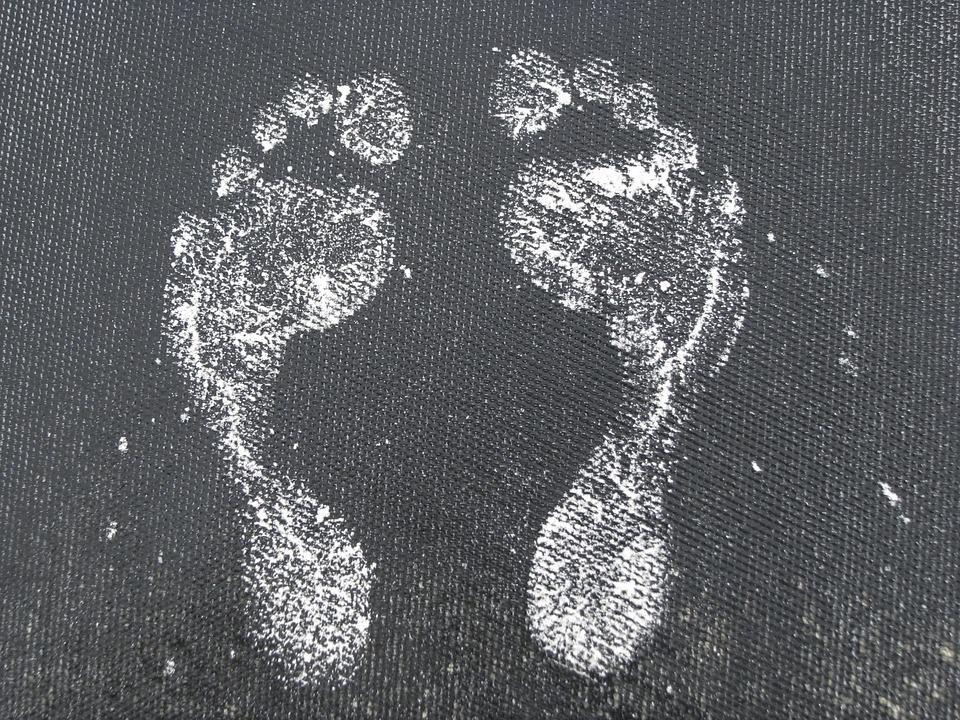 The Soles Of The Feet, Footprint, Two, A Couple Of