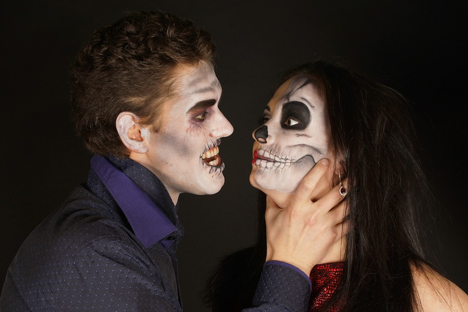 Halloween, Holiday, Quarrel, People, Two, Photo, Bright