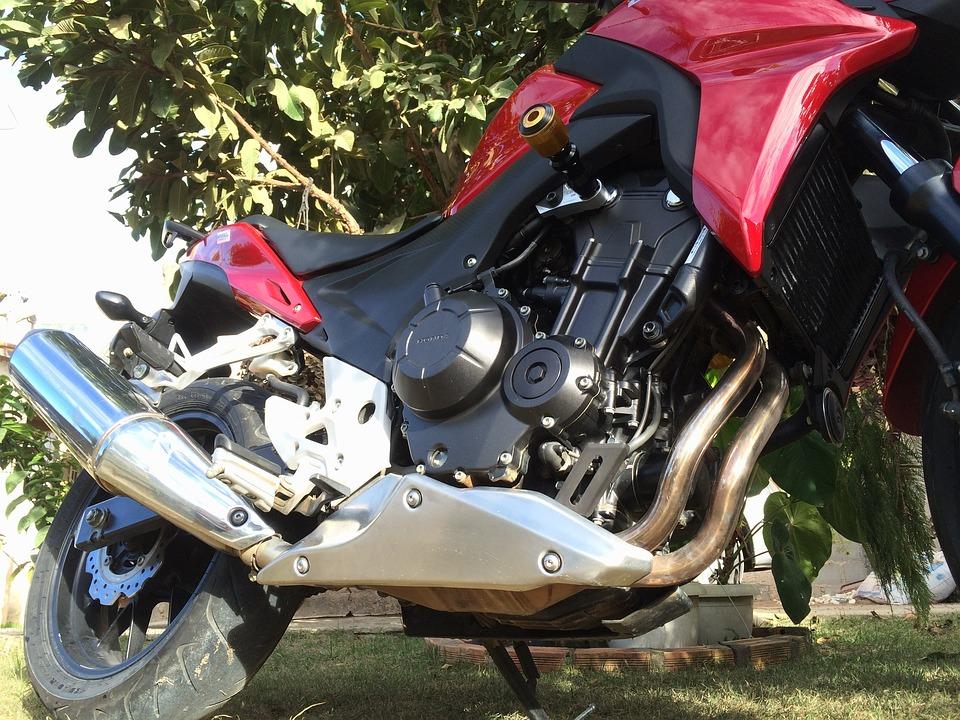 Bike, Red, Honda, Two Wheels, Adventure, Motorcycle
