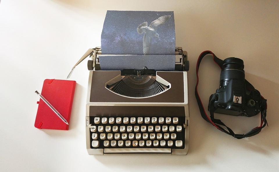 Typewriter, Imagination, Bird, Universe, Camera