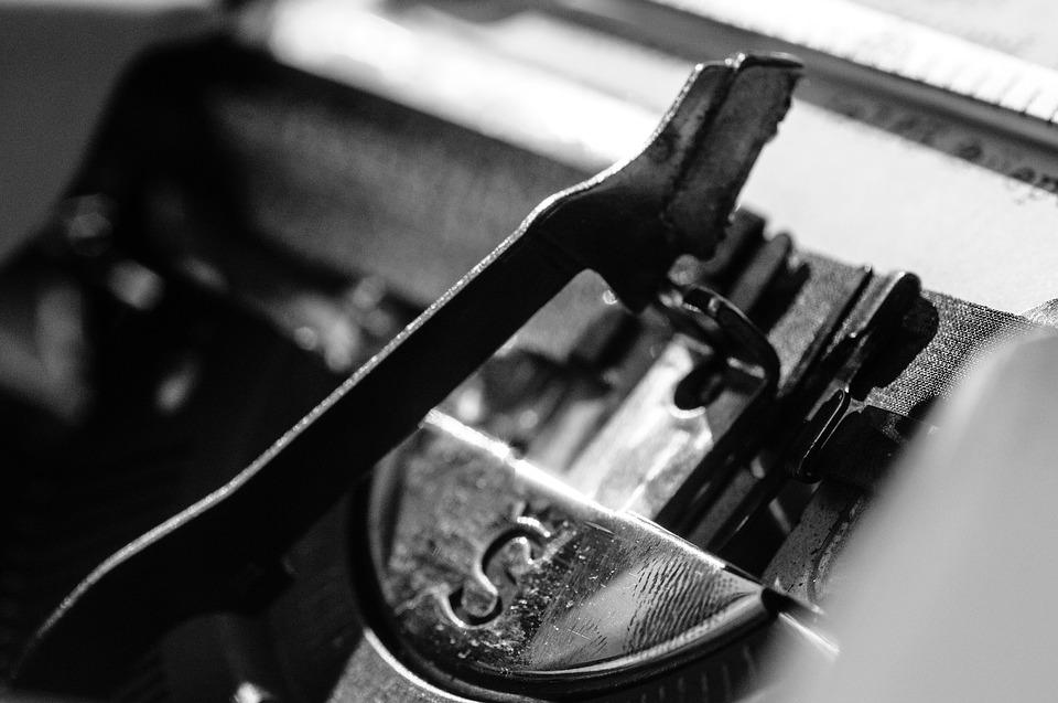 Typewriter, Black White, Black And White, Mechanically