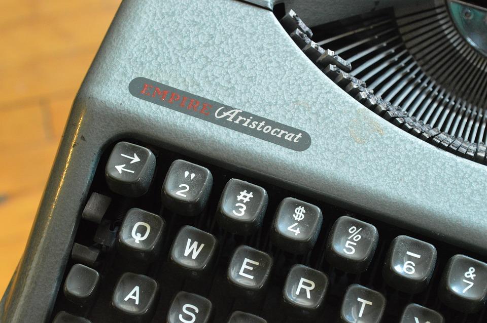 Typewriter, Keys, Machine, Old, Retro