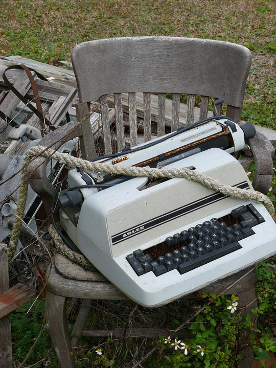 Typewriter, Vintage, Old, Adler, Keys, Type, Rope