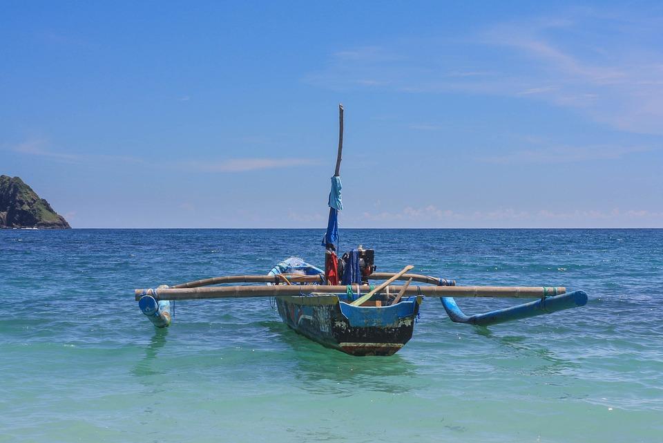 Boat, Sea, Bay, Indonesia, Bali, Typical Boat