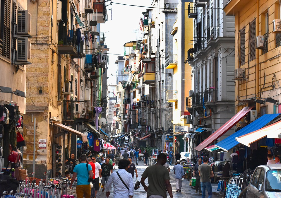Street, Naples, Typical, City, Architecture, Close