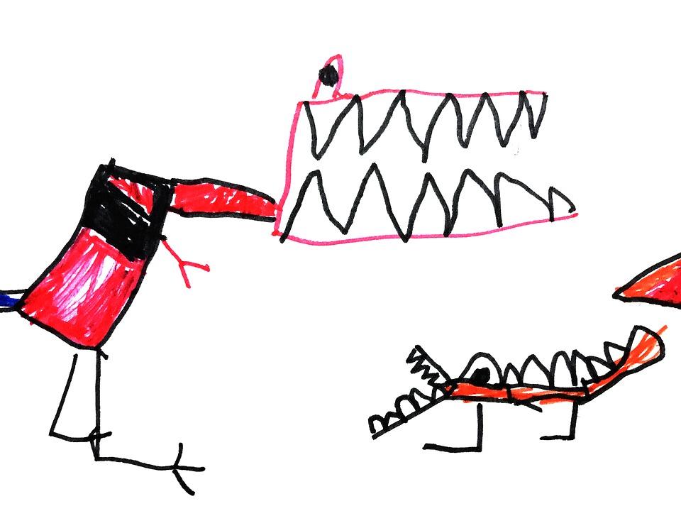 Dinosaurs, Kids Illustration, Figure, Tyrannosaurus