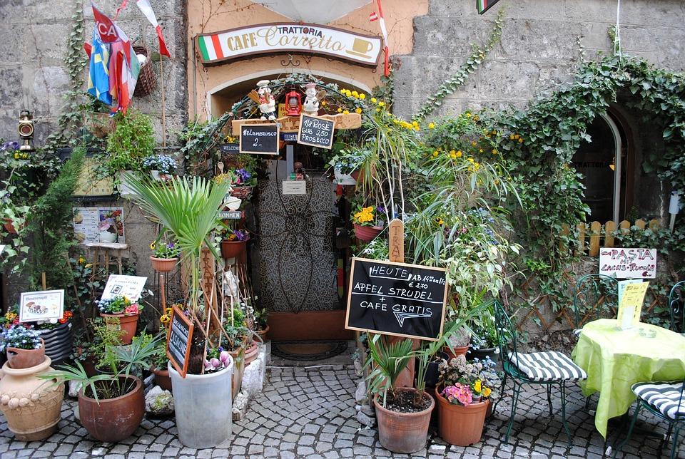 Austria, Hall In Tirol, Tyrol, Cafe, Trattoria