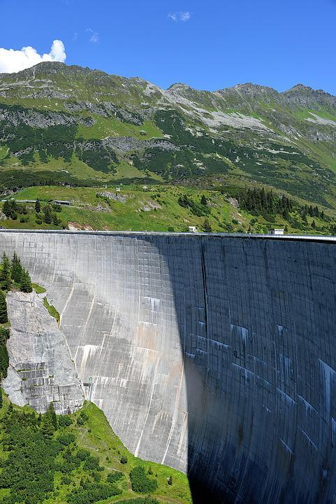 Dam, Kopfssee, Reservoir, Kaunertal, Tyrol
