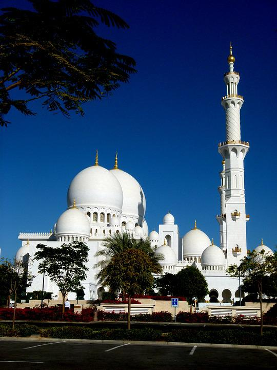 Abudhabi, Mosque, Building, Islam, Architecture, U A E