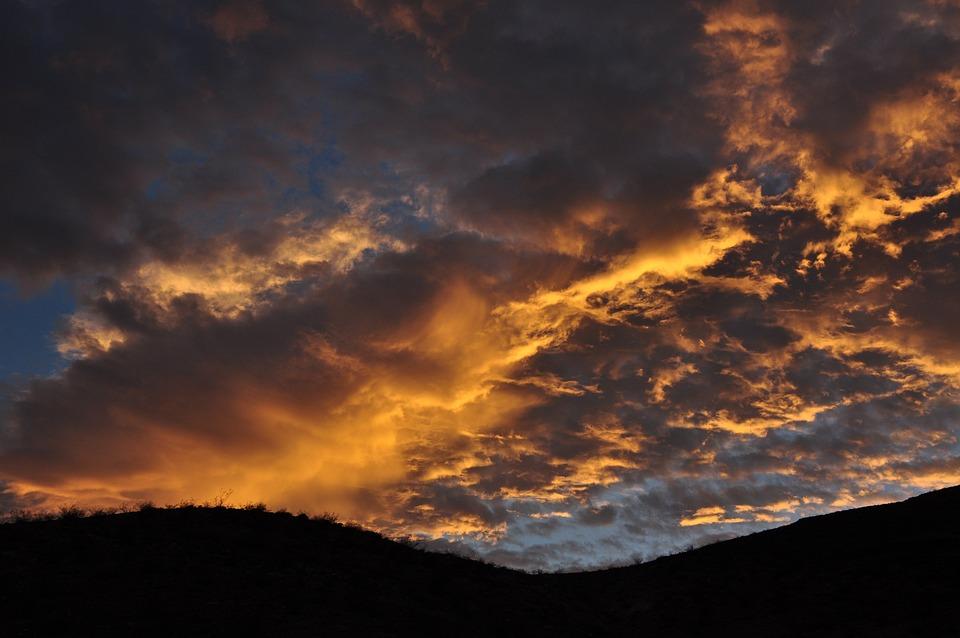 Sky, Clouds, Sunlight, Sunset, U S