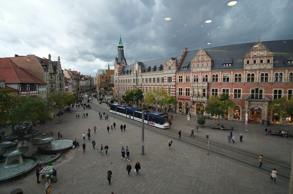 Anger, Erfurt, Architecture, Historic Center, City, Ufo