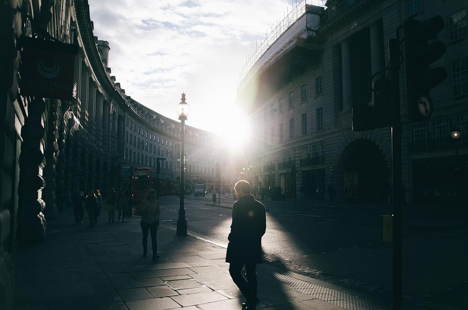 London, Street, Road, Uk, City, Urban, British, Person