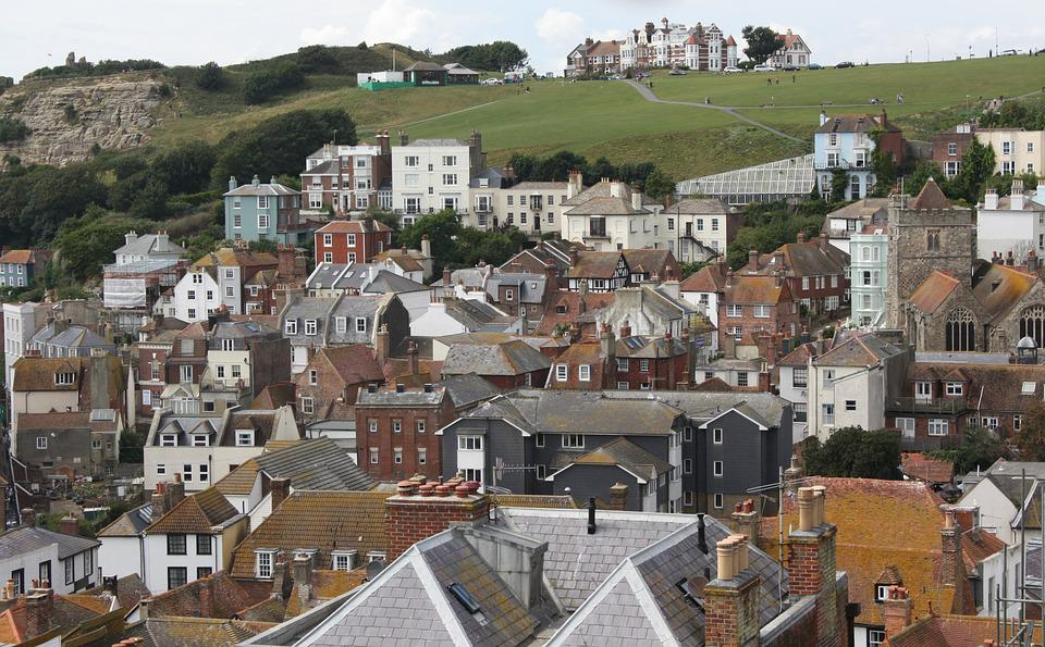Hastings, Uk, Houses, Castle, Medieval, Architecture