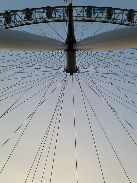 London Eye, Ferris Wheel, Landmark, Famous, Uk