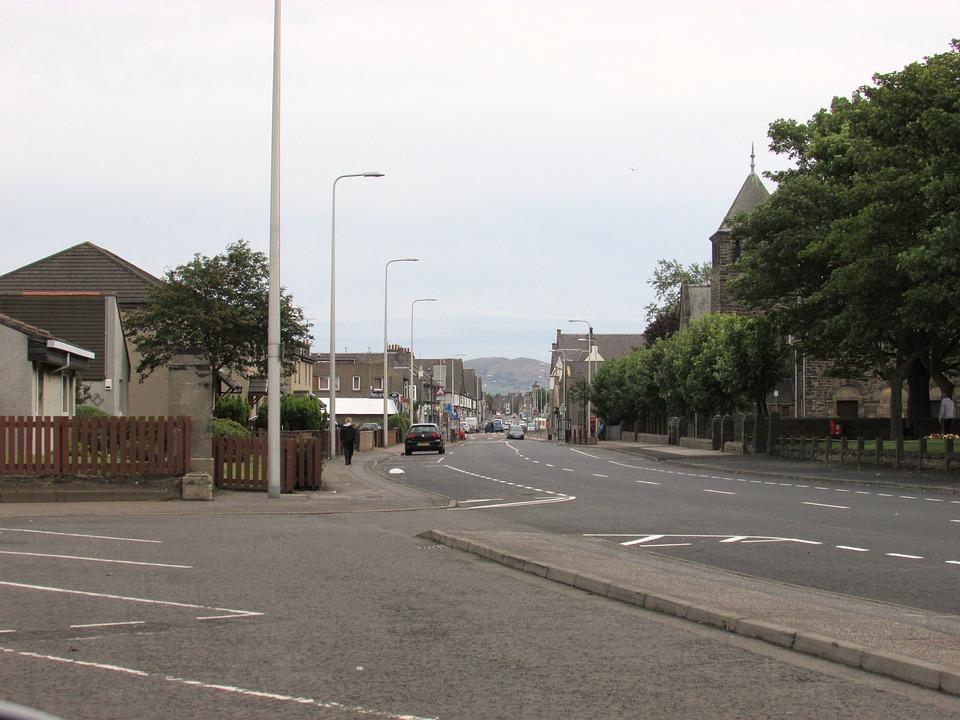 Scotland, Street, Road, City, Uk, Kingdom, Urban, Town