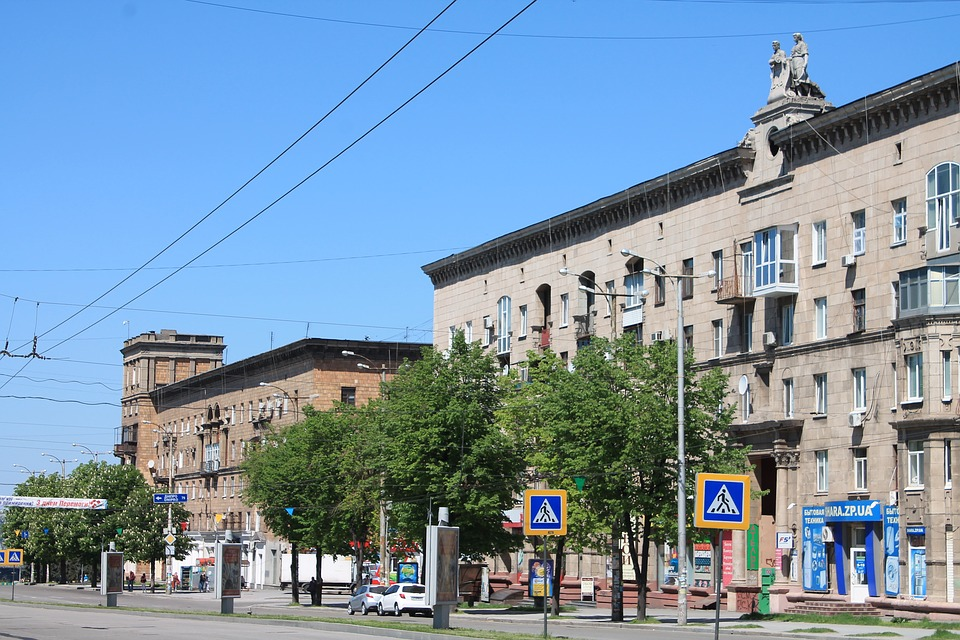 Architecture, Megalopolis, City, Zaporozhye, Ukraine