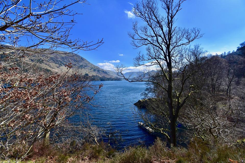 Ullswater, Lake District, England, Sunny Day, Beautiful