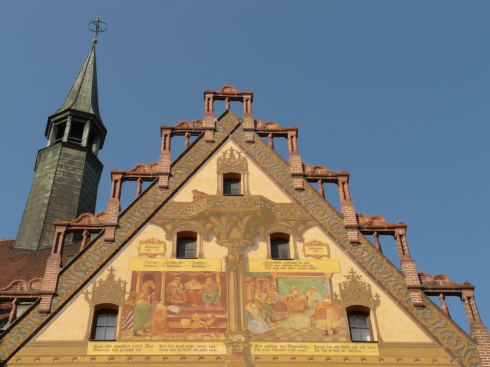 Home, Building, Facade, Architecture, Town Hall, Ulm