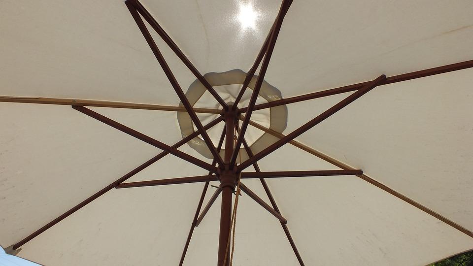 Umbrella, White, Sun