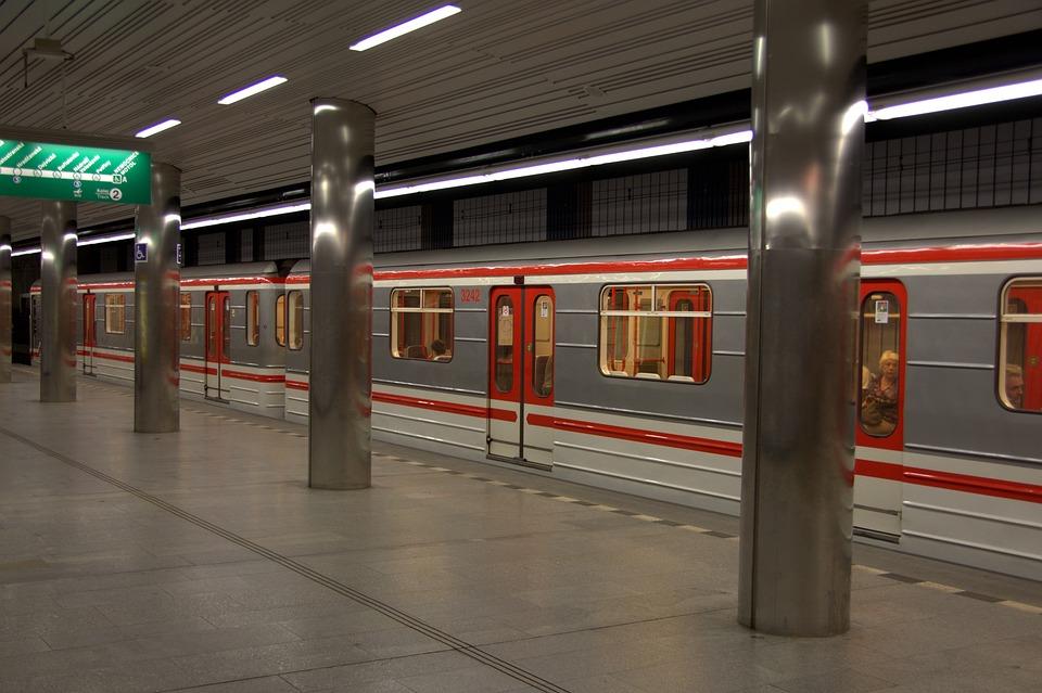 Prague, Metro, Underground, Railway Station, Train