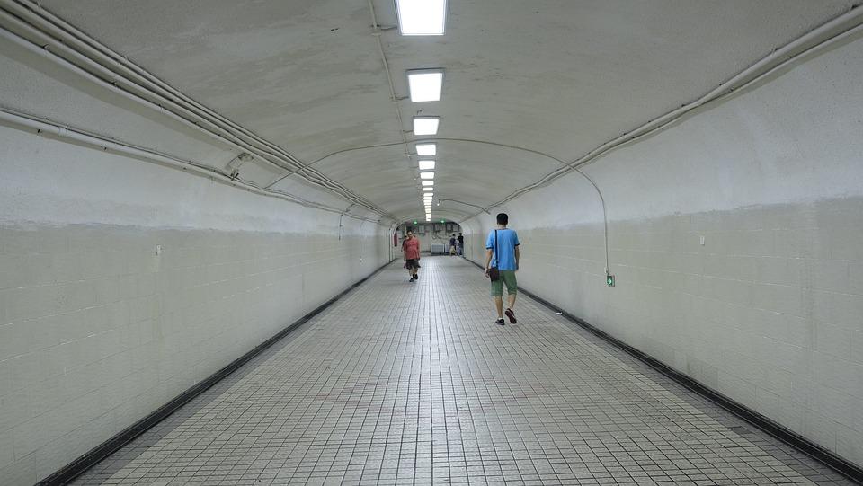 Underground Passage, Shuttle, Pedestrians