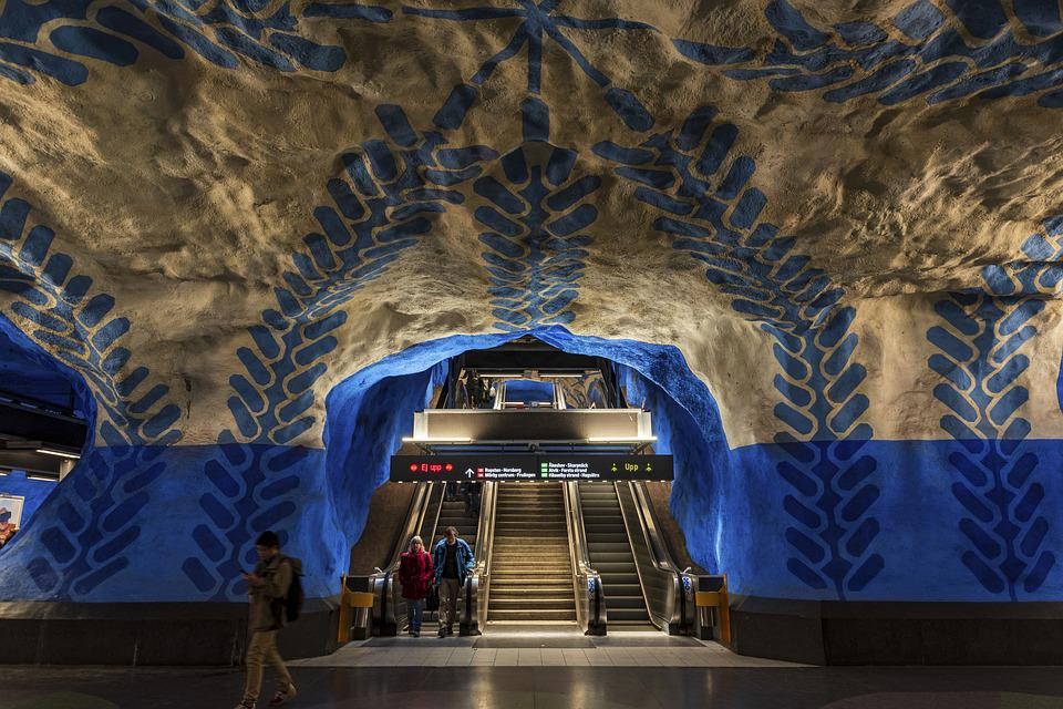 Train, Metro, Station, Stockholm, Underground, Urban
