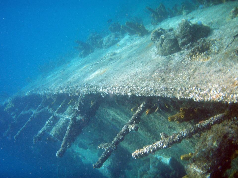 Diving, Underwater, Wreck, Aruba, Sea, Holiday