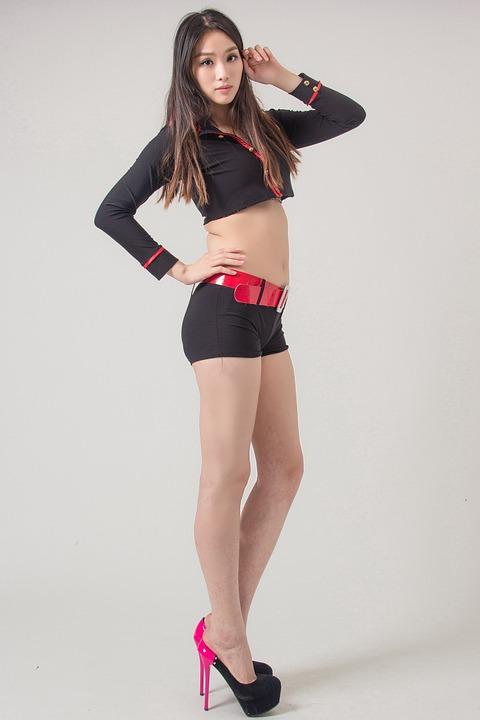 Portrait, Studio, Female, Underwear