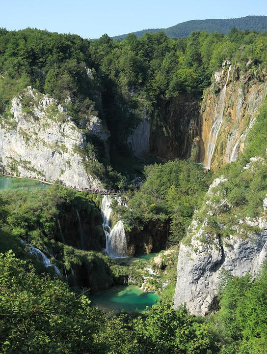 Waterfall, Plitvice Lakes, Croatia, Unesco