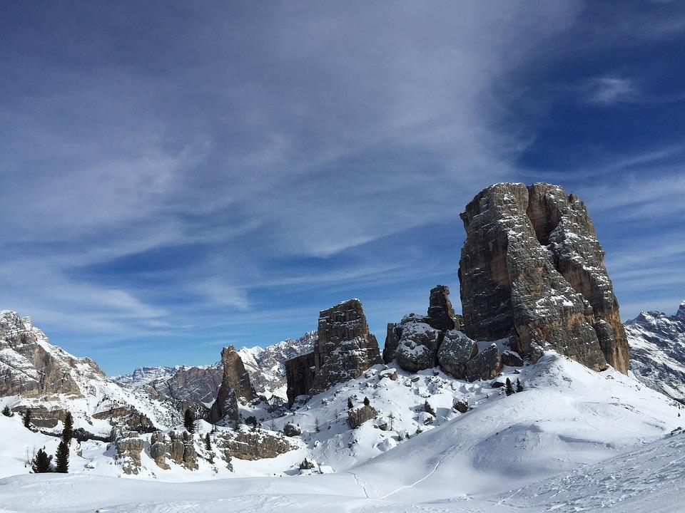 Mountain, Cortina D'ampezzo, Snow, Unesco, Winter