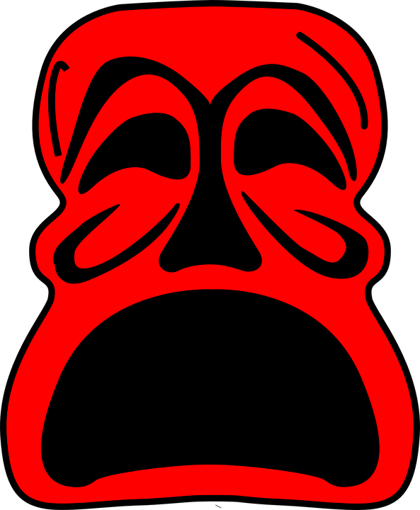 Face, Mask, Unhappy, Sad, Demon, Monster, Evil, Red