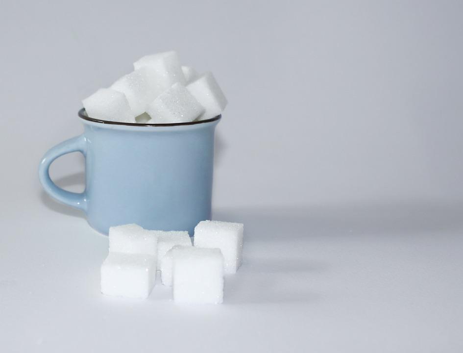 Sugar, Sugar Lumps, Sugar Cube, Sweet, Unhealthy, Cup