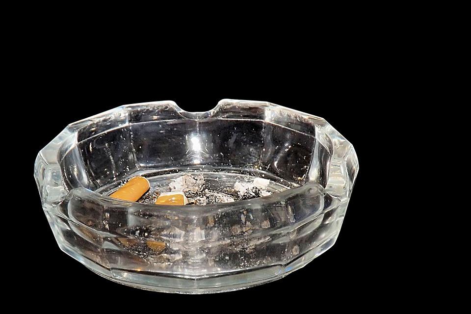Ashtray, Tilt, Smoking, Unhealthy, Cigarette Butts