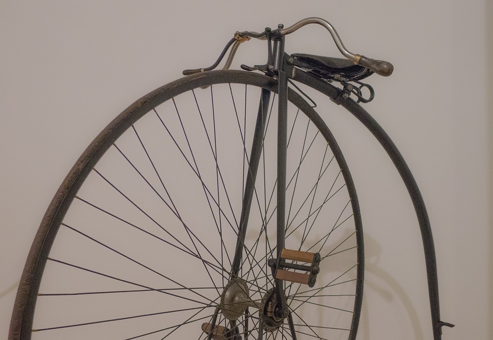 Bicycle, Unicycle, Old, Vintage, Pedals, Saddle