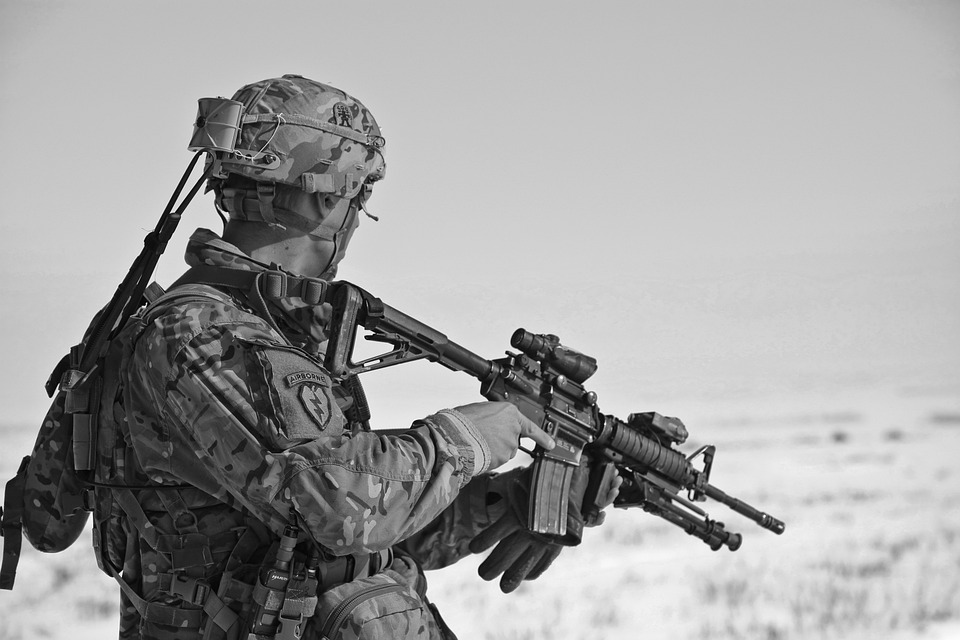 Soldier, Uniform, Army, Weapon, Bullets, Projectile